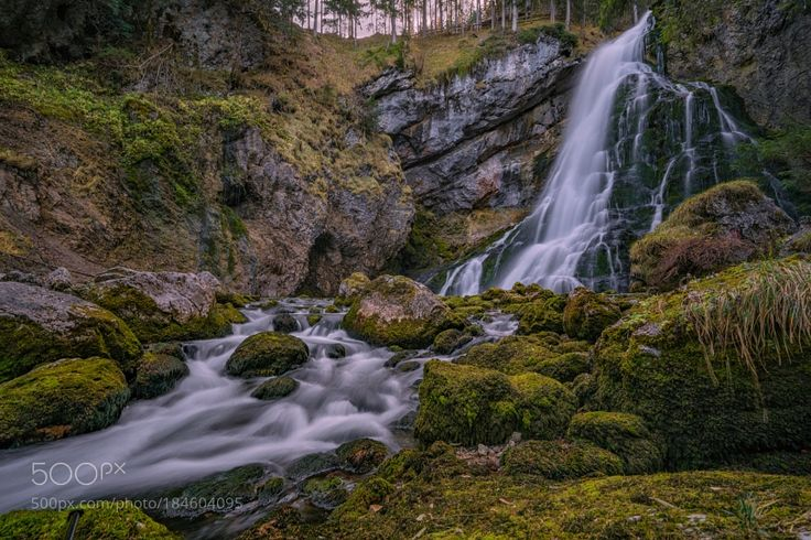 Gollinger waterfall by hubertbichler
