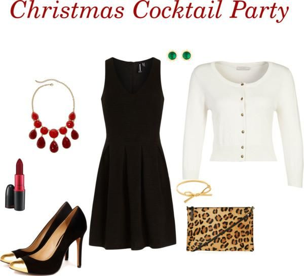 Dressing up your little black dress for a Christmas cocktail party. I already have the shoes!