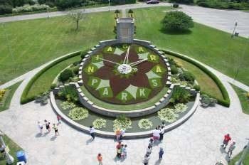 Floral clock in Niagara Falls, Canada