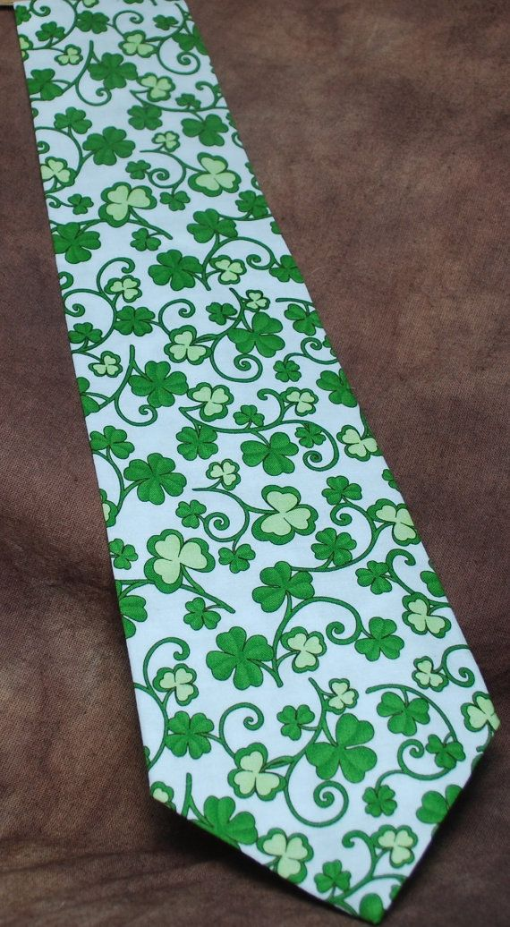 Lucky neck tie by AbandonedWarehouse on Etsy #clover