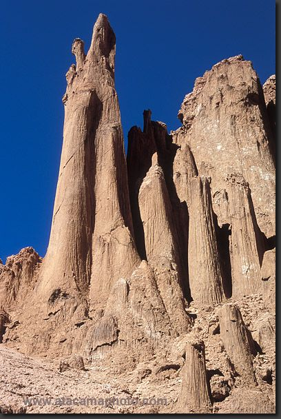 salt pillars in San Pedro de Atacama, Atacama desert, northern Chile