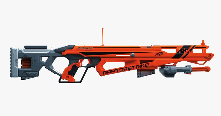 Toy Fair is almost here. Here are three blasters you can unwrap early: the Raptorstrike, which uses Nerf's most accurate darts yet; the Twinshock, the first blaster to shoot two Mega darts at once, and the Modulus Regulator, which… well, it's dope.