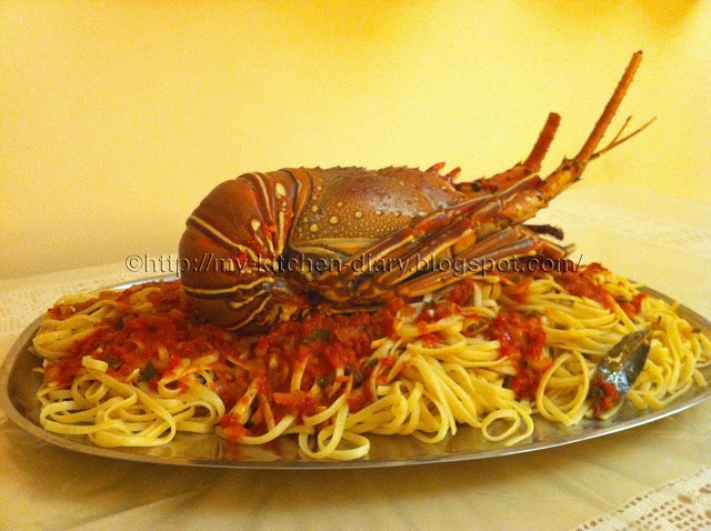 My Kitchen Diary: Αστακομακαρονάδα (τρομερή!) / Awesome lobster pasta