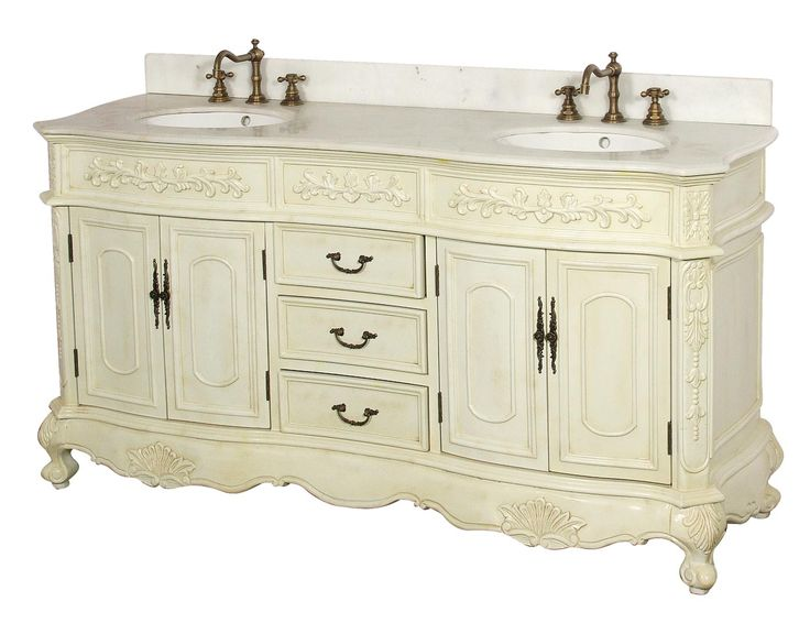 Dreamline Antique Bathroom Vanity, Solid Antique White birch wood cabinet  frame and legs, Antique Cherry Cabinet Color, thick hand-polished black  galaxy ... - The 25+ Best Antique Bathroom Vanities Ideas On Pinterest