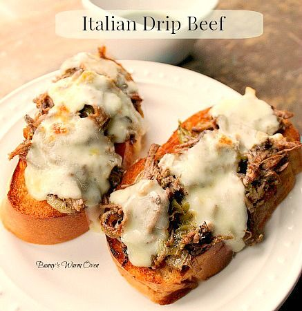 Pioneer Woman's Italian Drip Beef....A delicious Italian Drip Beef made in the crock pot. Put the ingredients in your crock pot and 5 or 6 hours later reap the reward of having an incredible dinner! This would be great for Christmas parties!