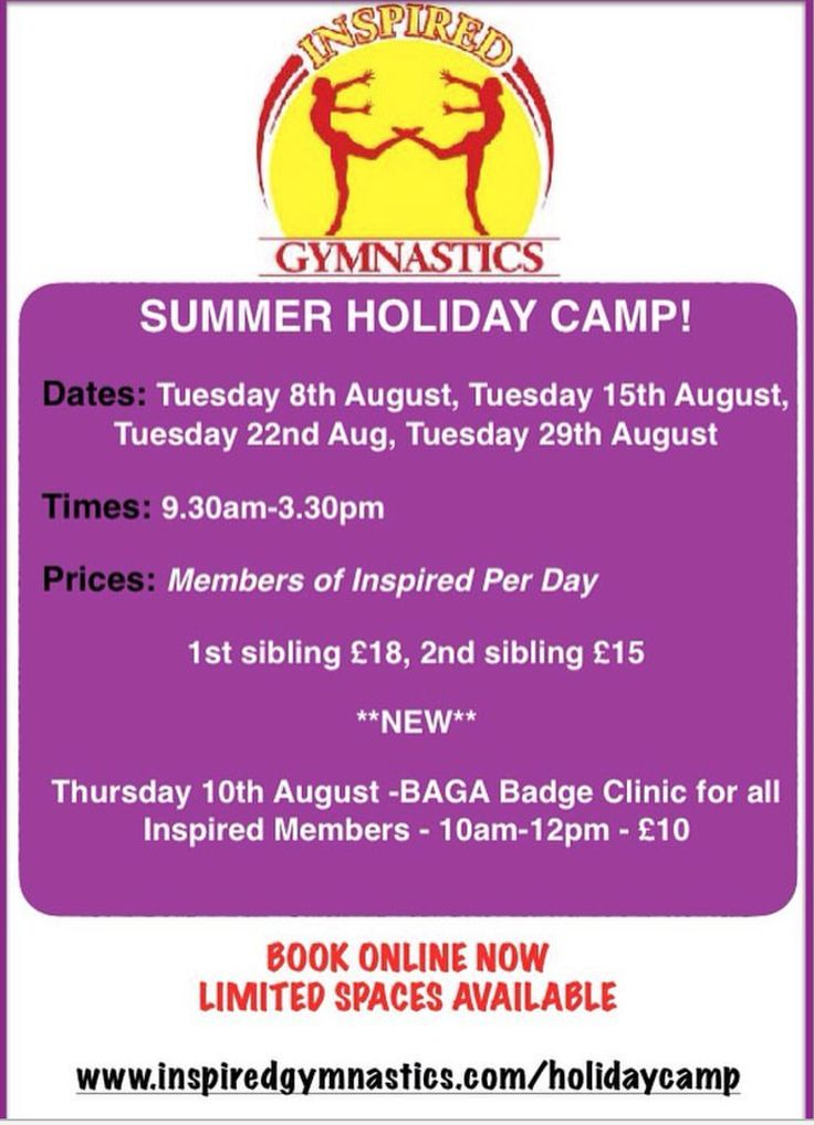 Summer Gymnastics camps 2017