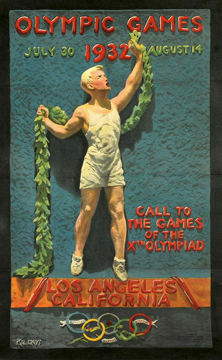 Poster design los angeles - Julio Kilenyi Olympic Games Poster Los Angeles 1932 Source Www Creativebloq