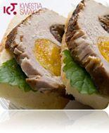 Schab pieczony nadziewany śliwką i morelą