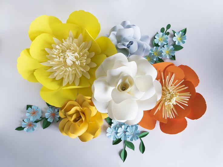 29 best Paper Flowers images on Pinterest | Paper art, Paper art ...