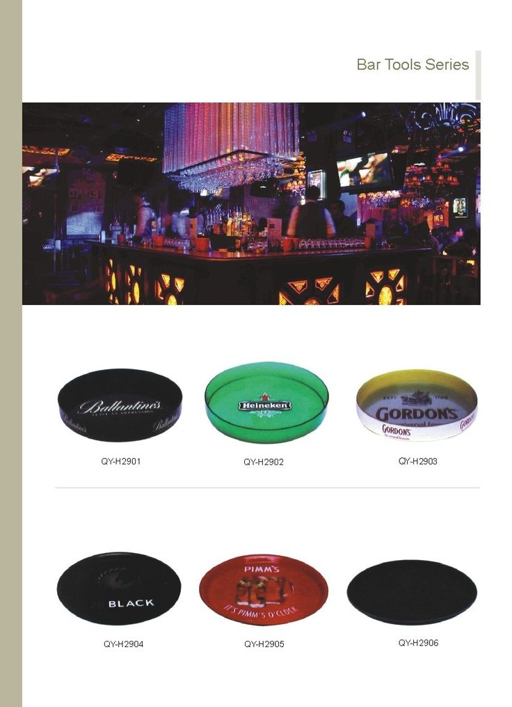 Bar tray with different logo and colors www.ideagroupigm.com