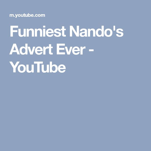 Funniest Nando's Advert Ever - YouTube