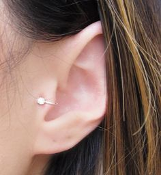 Sterling Silver Cubic Zirconia Tragus Ear Cuff by SimplicityCharms, $10.00