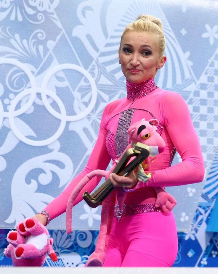 This German Olympic Figure Skater's Hot Pink 'Pink Panther' Catsuit Is Everything (PHOTOS)