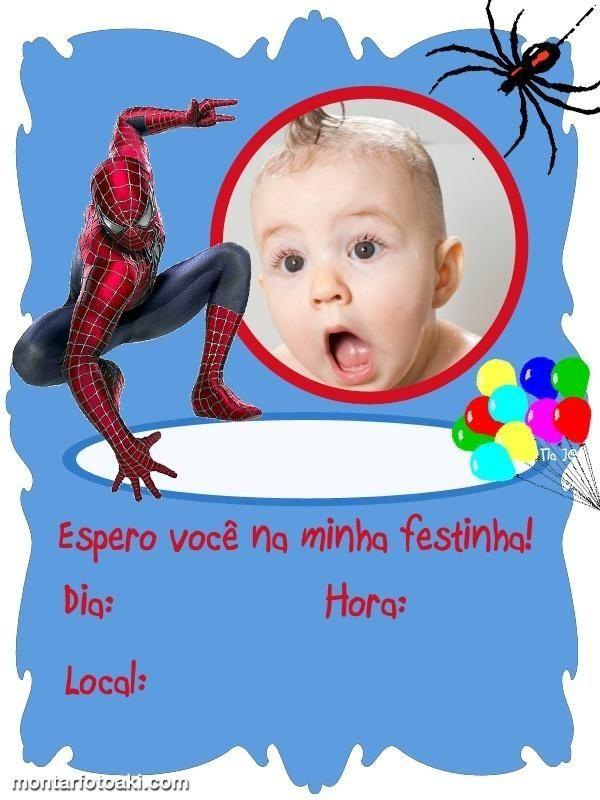 dicas de convites de festa de aniversário do homem aranha infantil
