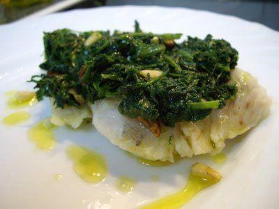 Mis recetas de cocina: MERLUZA CON ESPINACAS