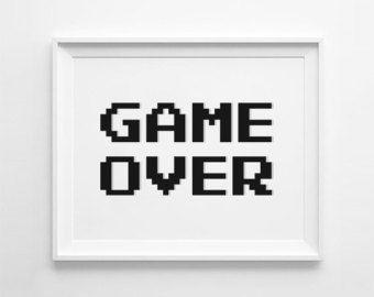Gamer decor, video game art, gaming decor, video game decor, game on poster, gaming poster, video game poster, gamer room decor, gamer gift
