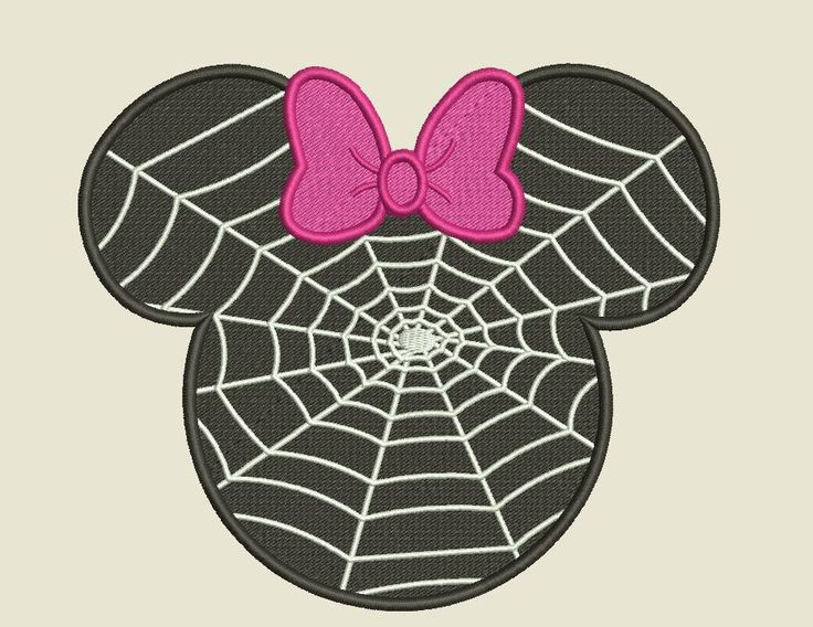Minnie Mouse Spider Web Machine Embroidery And Machine