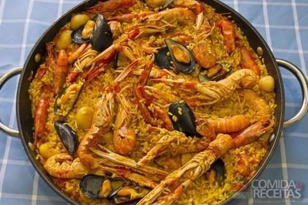 Receita de Paella baiana - Comida e Receitas