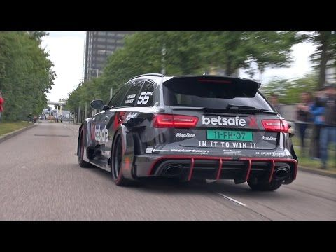 Jon Olssonu0027s Audi RS6 DTM Attacks The Snow   YouTube