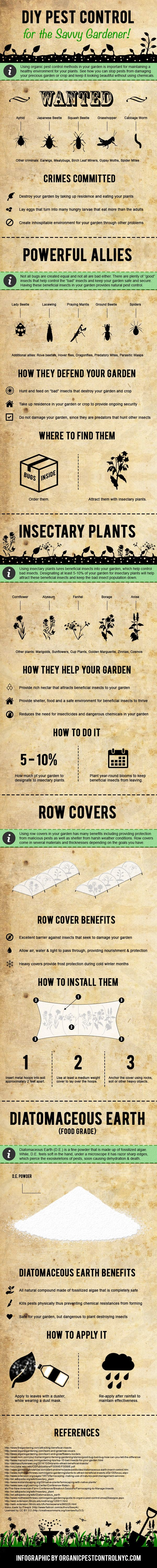 DIY Pest Control for the Savvy Gardener! #infographic #DIY #PestControl…
