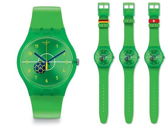 Swatch abbraccia la fede Calcistica in onore del Brasile con Entusiasmo! - Gioielli e orologi - diModa - Il portale... di moda