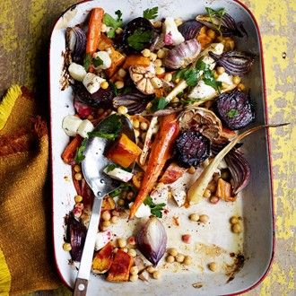 Roasted Vegetables With Halloumi - Recipe Ideas - Healthy & Easy Recipes