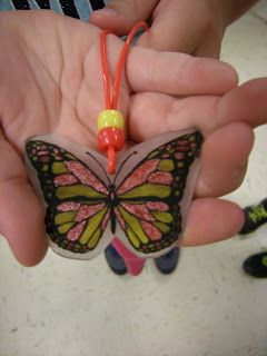 Artolazzi: Butterfly or Moth Shrink-y-dink necklaces or magents