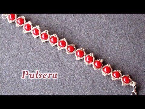 # DIY - Pulsera de perlas rojas# DIY - Red pearl bracelet - YouTube