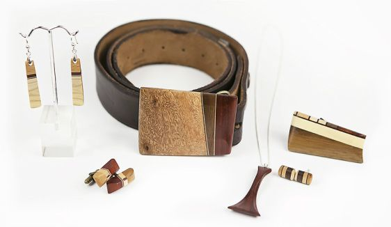 OffCut Accessories - A zero-waste line of wood jewellery, belt buckles and more, made by hand in Nelson, BC.