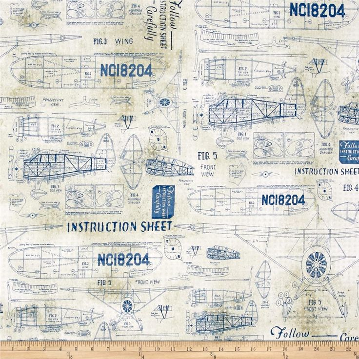 Tim Holtz Eclectic Elements Model Airplanes Blue from @fabricdotcom  Designed by Tim Holtz for Coats and Clark, this cotton print is perfect for quilting, apparel, and home decor accents. Colors include blue and beige.