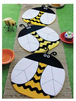 Bee Happy Place Mat or Table Topper