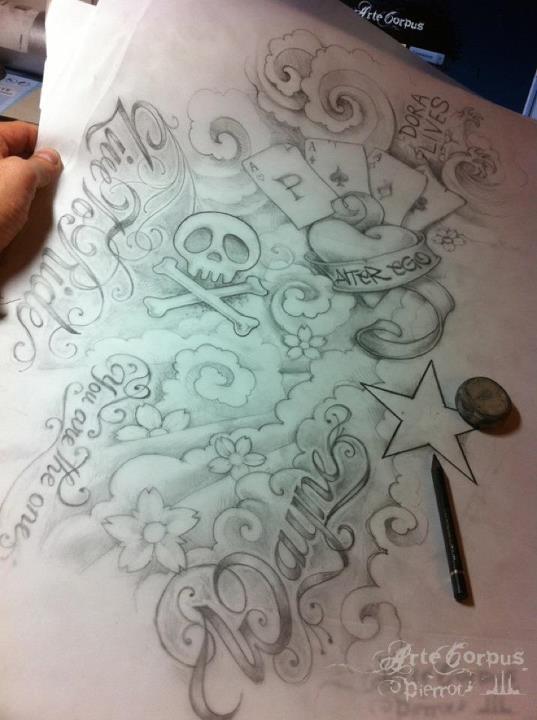 Dessin pr paratoire pour une manchette new school par pierrot arte corpus marseille sketchs - Dessin new school ...