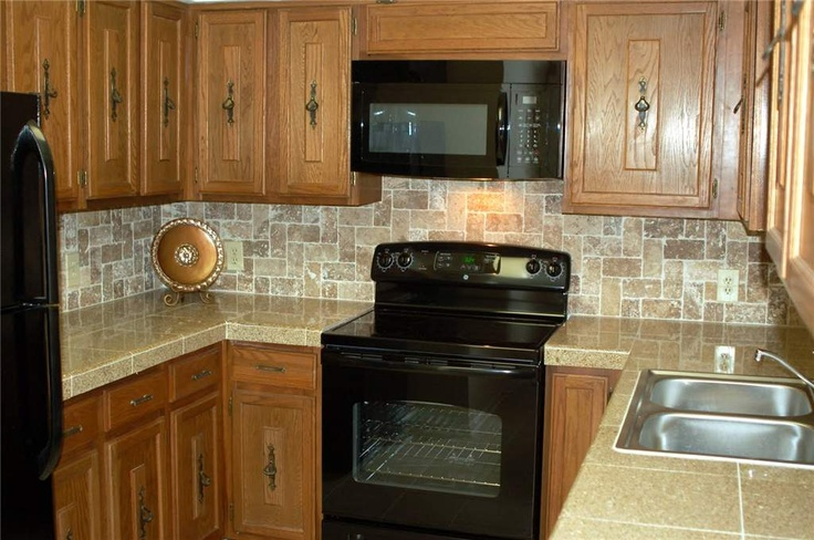 Kitchen Counters Features Tiled Granite Counterops And