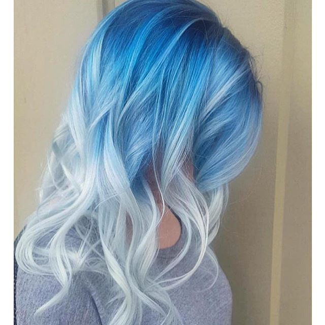 WEBSTA @ hotonbeauty - Pastel Perfect Blue and Silver Color Melt by…