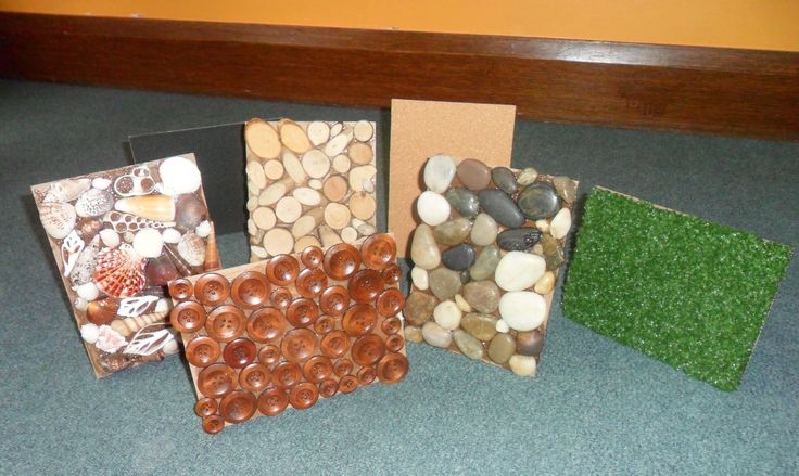 """Fabulous sensory boards created from the backings of discarded photo frames at New Horizons Preschool ("""",)"""