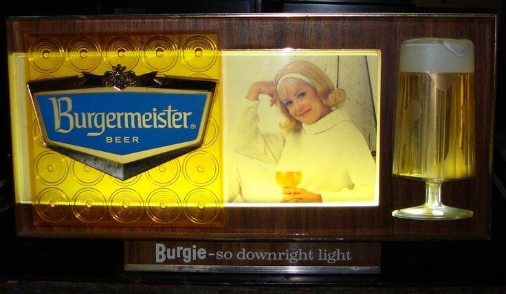 7 best vintage bar lights images on pinterest vintage bar beer burgermeister beercountertop electric sign vintage 1970s mozeypictures Images