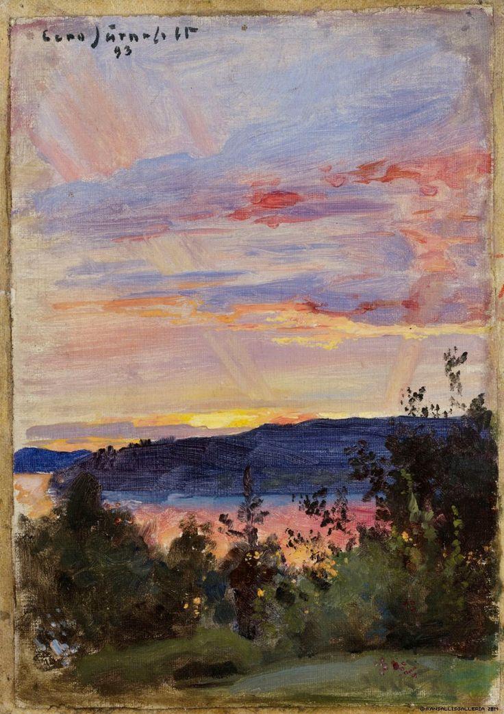 Järnefelt, Eero Auringonlasku 1893.  Kansallisgalleria - Taidekokoelmat - Auringonlasku