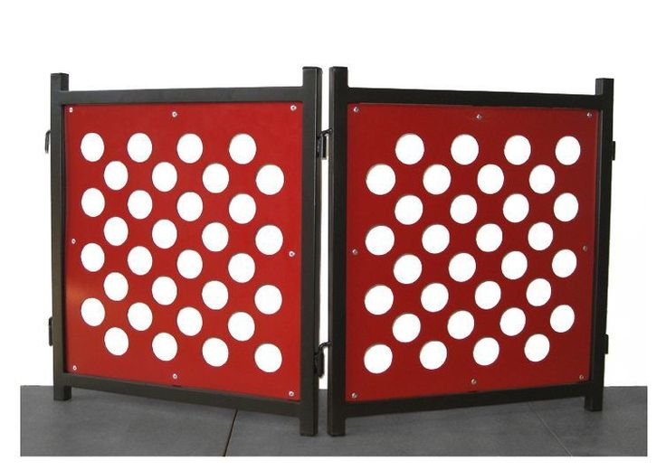 Polka Dog Modern Dog Gate