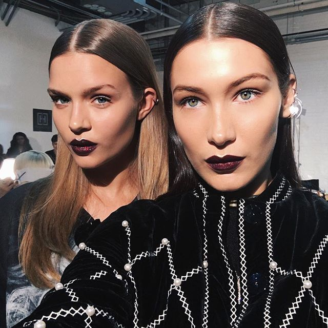Pat McGrath's Glitter Lips Stole the Show at DKNY #RueNow