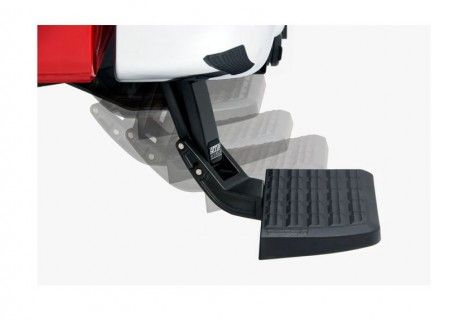 Strong and rugged, this non-slip, retractable bumper step quickly flips down with the nudge of a foot providing a faster, easier and safer way to load or unload your pickup's cargo. Supports up to 300 lbs. Frame-mounts, under the rear bumper so it works even with an open tailgate or when towing. BEDSTEP is made in the USA and backed by a 3-year/36,000-mile warranty. Product link: http://www.racknroad.com/product/amp-bed-step-for-gm-trucks.html