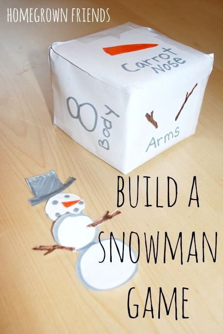 love this build a snowman game from Homegrown Friends!