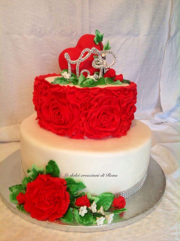 Torta rose rosse