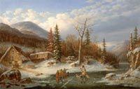 Krieghoff, Cornelius - Paysage d'hiver, Laval - Musée  des beaux-arts du Canada, Ottawa
