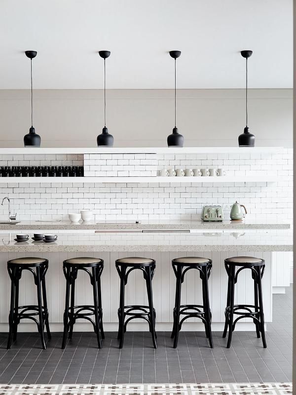 36 Best Breakouts & Kitchens Images On Pinterest  Smart Project Amazing Black And White Tile Designs For Kitchens Design Decoration