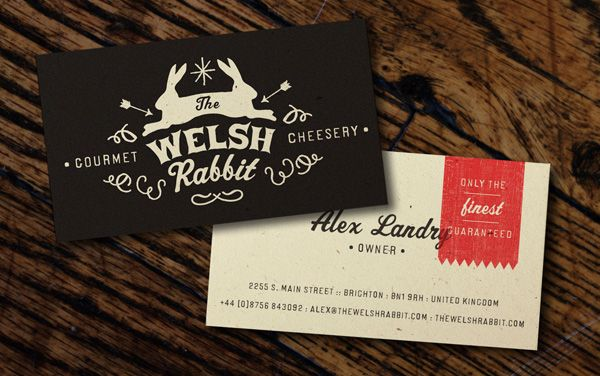 business card: Sara Seals, Welsh Rabbit, Cards Design, Business Cards, Welshrabbitbcjpg 523328, Rabbit Cheeseri, Packaging Inspiration, Graphics Design, Cards Inspiration