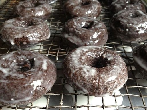 The BEST gluten-free chocolate doughnuts EVER. :-)