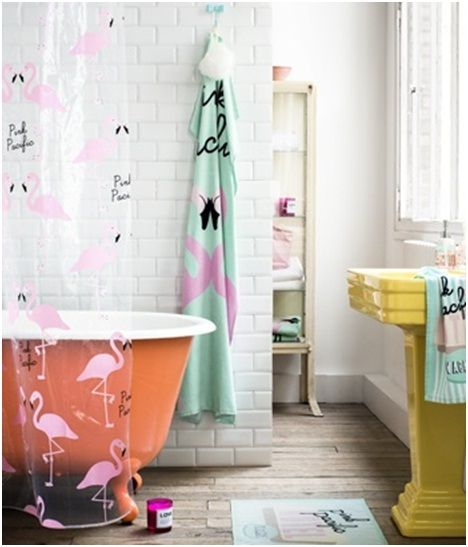17 best images about colour at home orange on pinterest for Pink and orange bathroom ideas