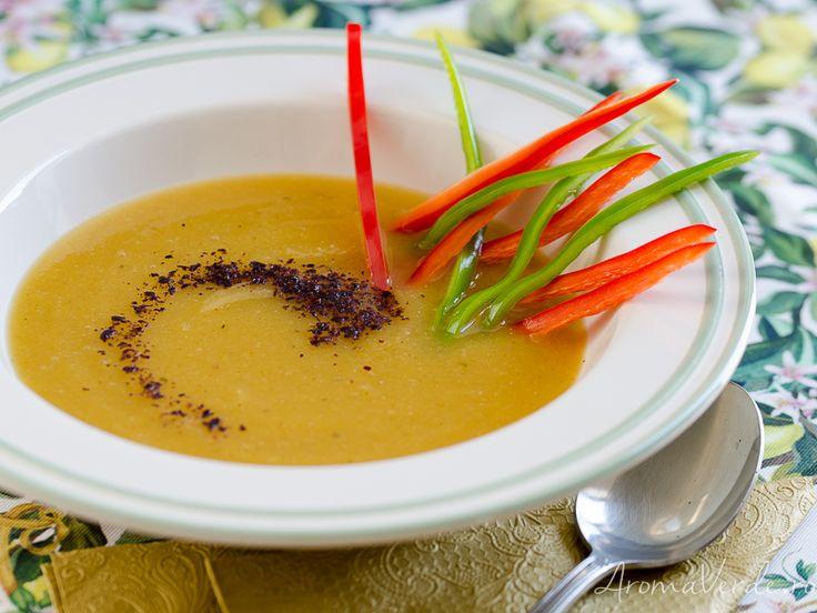 Supă de cartofi dulci și dovlecel