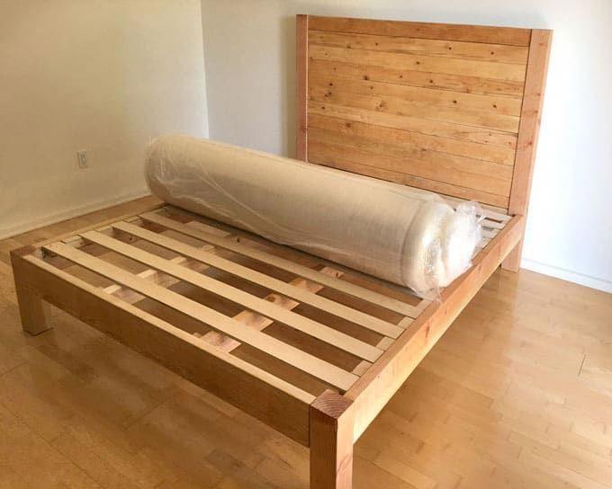 Diy Bed Frame Wood Headboard 1500 Look For 100 Bed Frame And Headboard Queen Bed Frame Diy Diy King Bed Frame