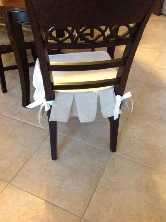 Chair slipcover by PilisChicBoutique on Etsy